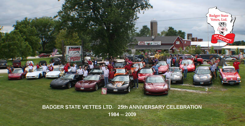 Badger State Vettes 25th Anniversary Photo